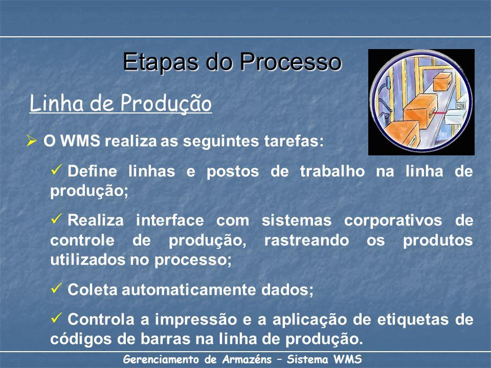 Etapas do Processo Linha de Produção