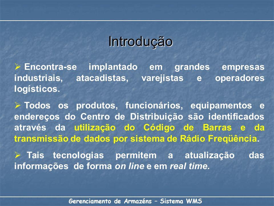 Introdução Encontra-se implantado em grandes empresas industriais, atacadistas, varejistas e operadores logísticos.