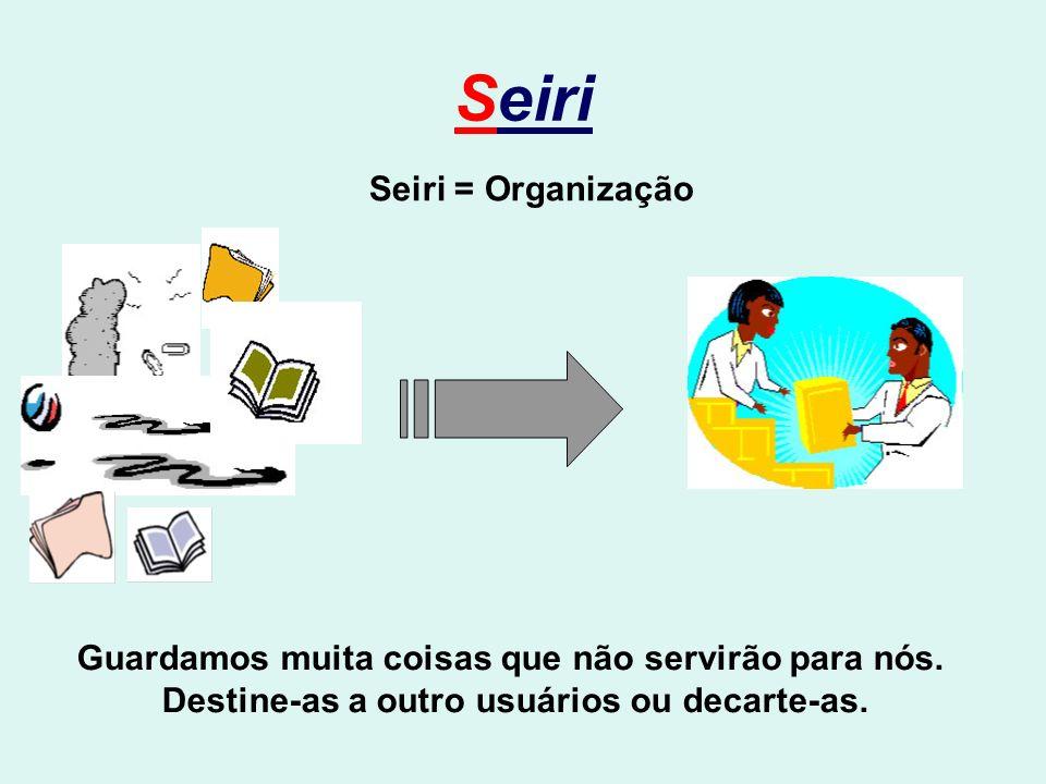 Seiri Seiri = Organização