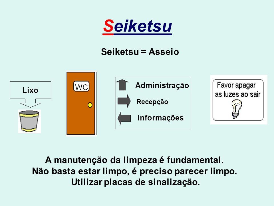 Seiketsu Seiketsu = Asseio A manutenção da limpeza é fundamental.