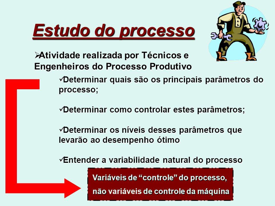 Estudo do processo Atividade realizada por Técnicos e