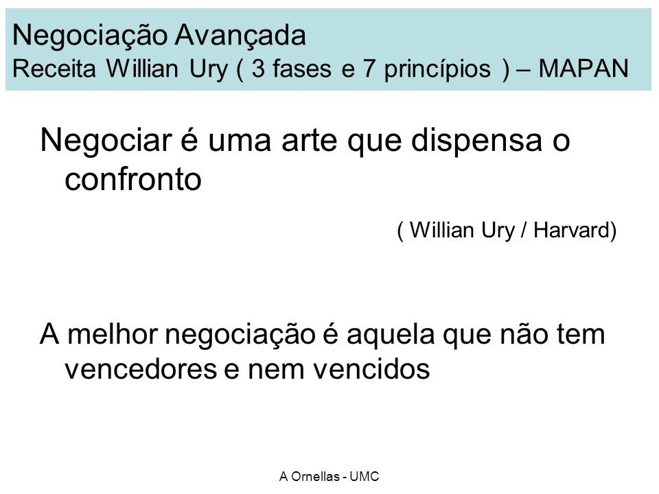 Negociar é uma arte que dispensa o confronto ( Willian Ury / Harvard)