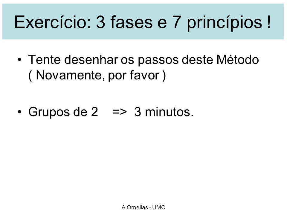 Exercício: 3 fases e 7 princípios !