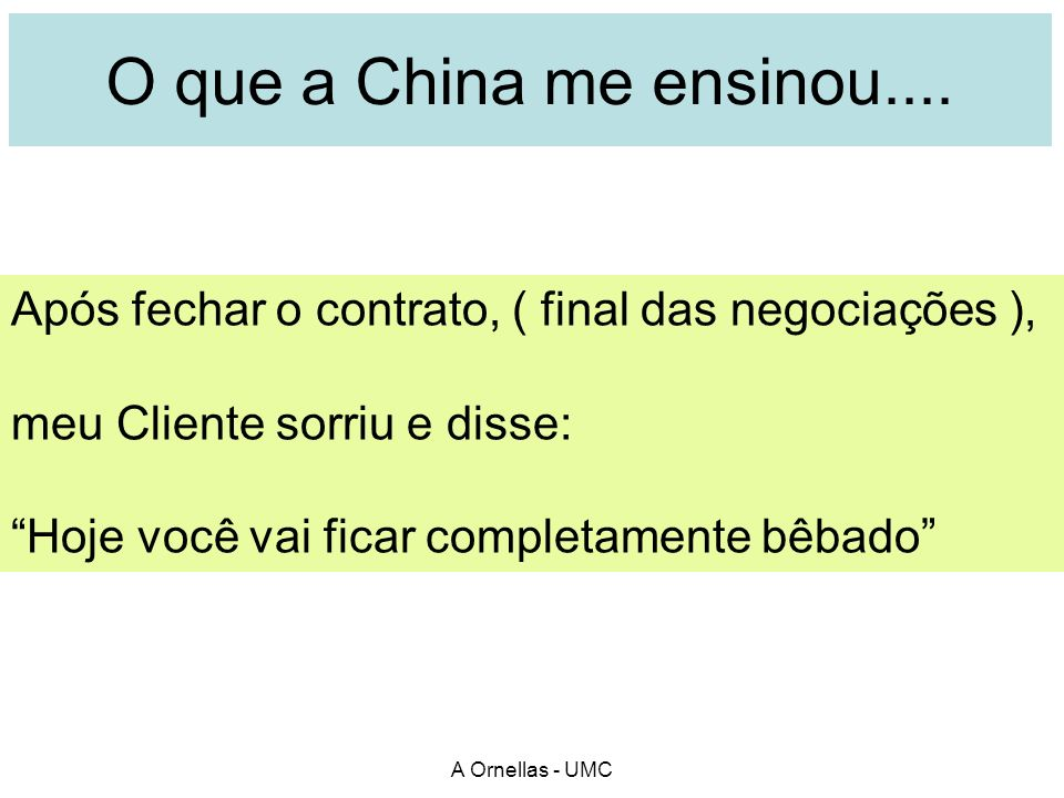 O que a China me ensinou....
