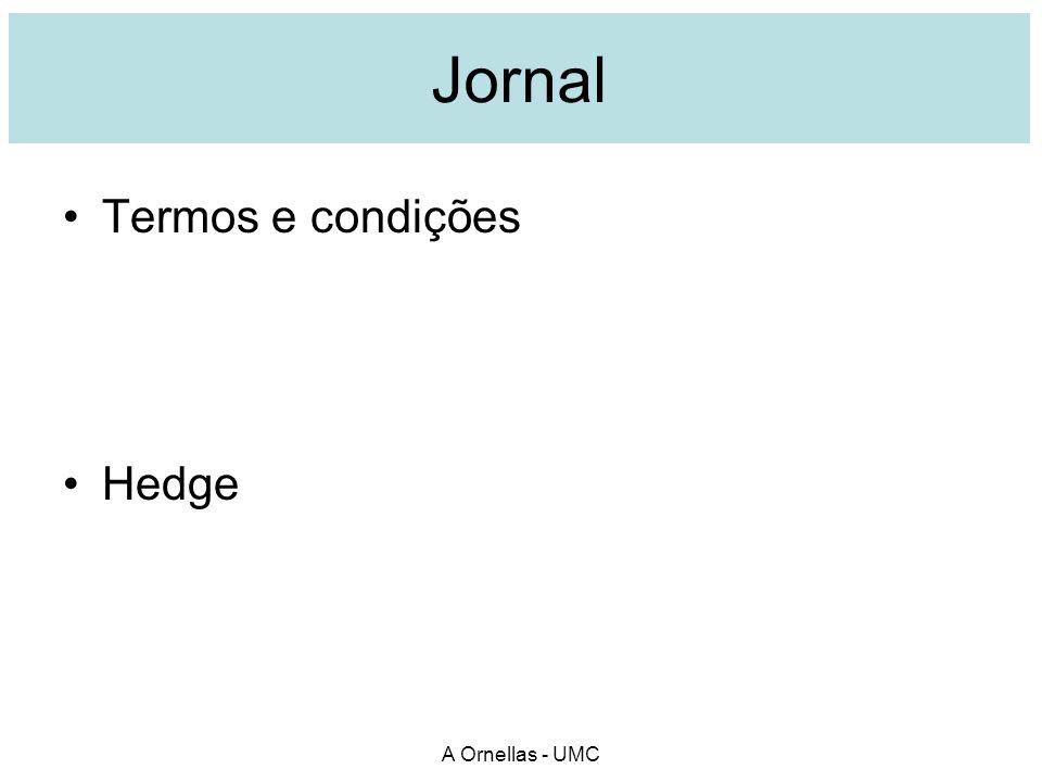 Jornal Termos e condições Hedge A Ornellas - UMC