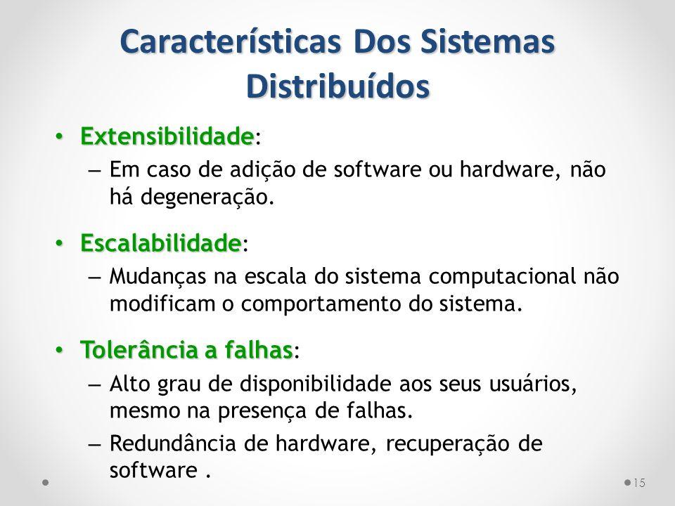 Características Dos Sistemas Distribuídos