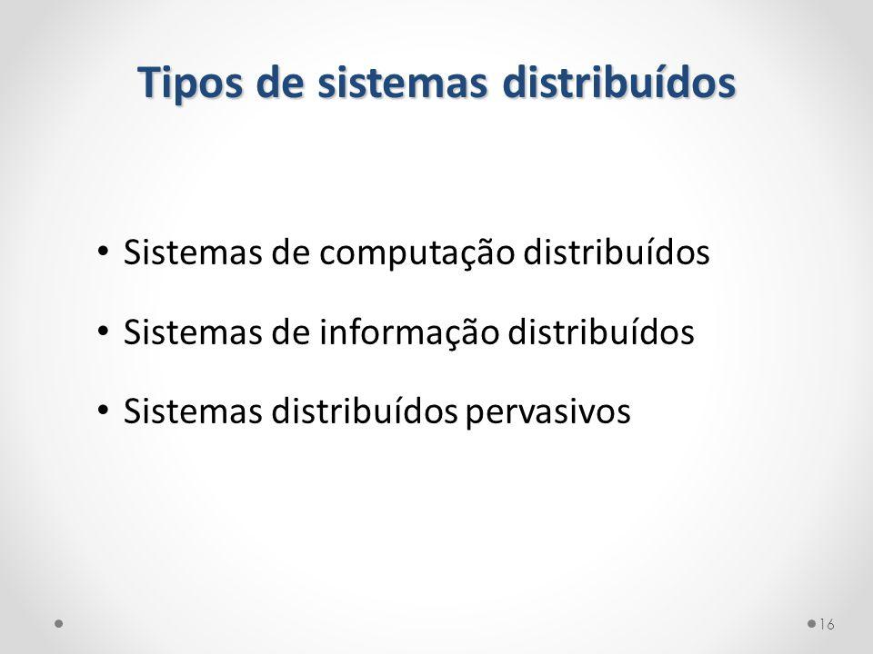 Tipos de sistemas distribuídos