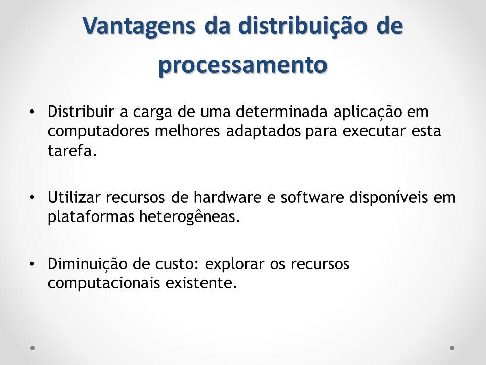 Vantagens da distribuição de processamento