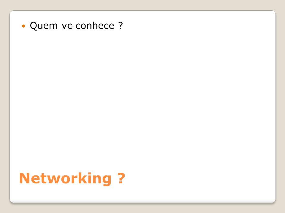 Quem vc conhece Networking