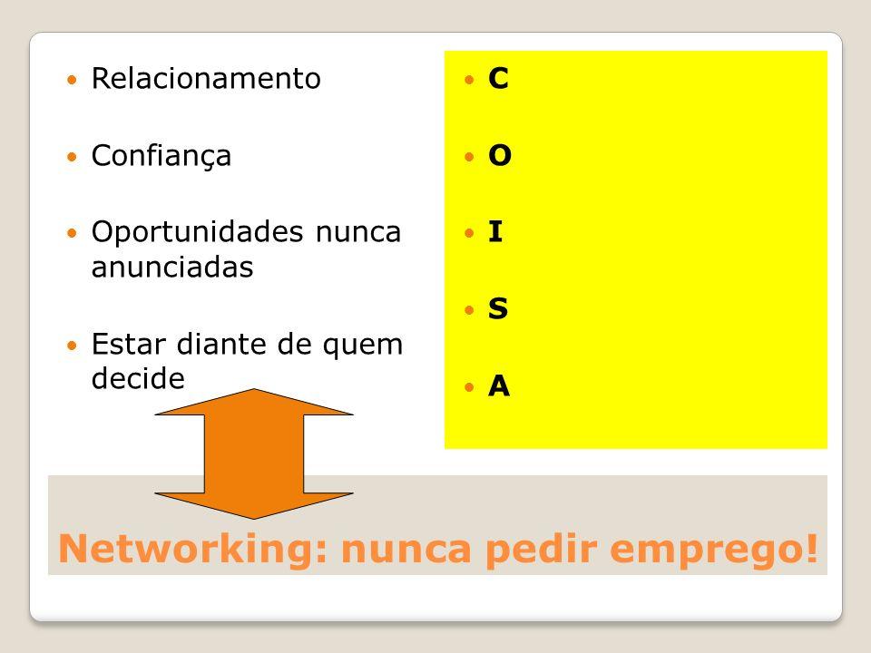 Networking: nunca pedir emprego!