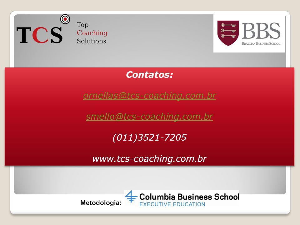 Contatos: ornellas@tcs-coaching.com.br smello@tcs-coaching.com.br