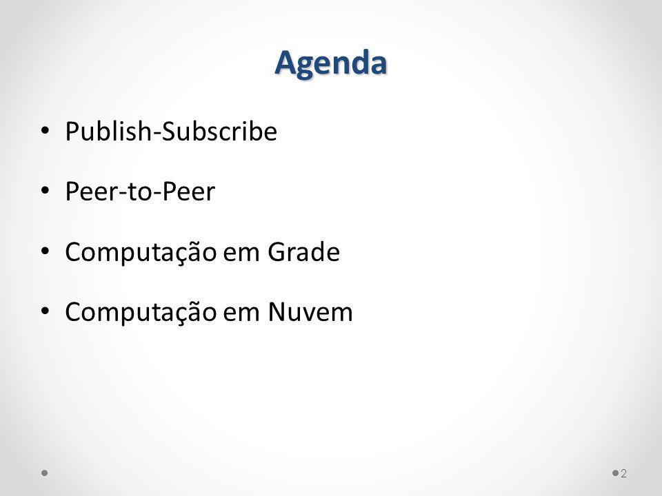 Agenda Publish-Subscribe Peer-to-Peer Computação em Grade