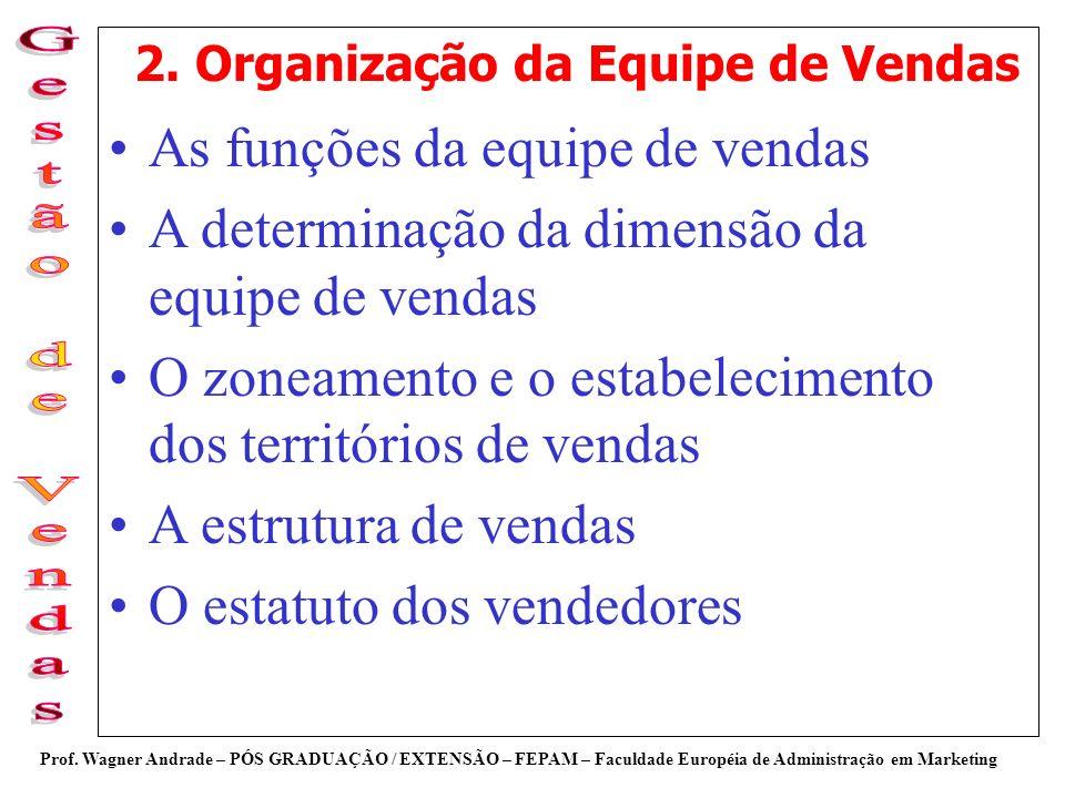 2. Organização da Equipe de Vendas