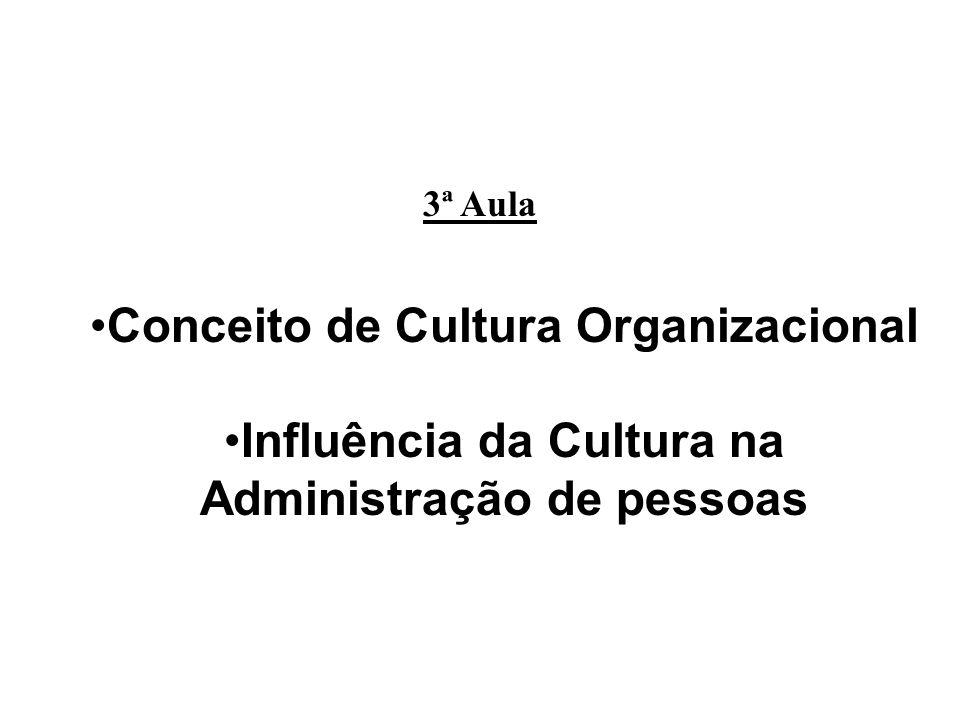 Conceito de Cultura Organizacional