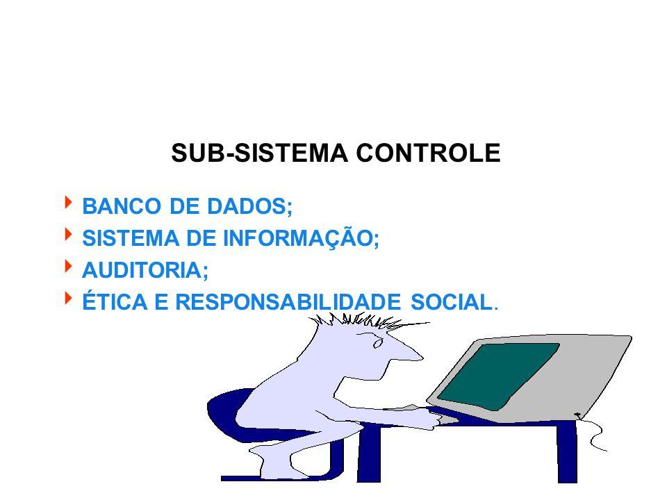 SUB-SISTEMA CONTROLE BANCO DE DADOS; SISTEMA DE INFORMAÇÃO; AUDITORIA;