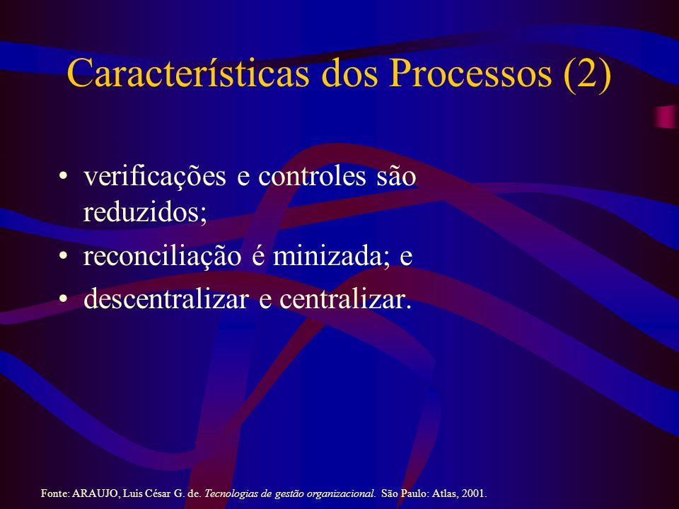 Características dos Processos (2)