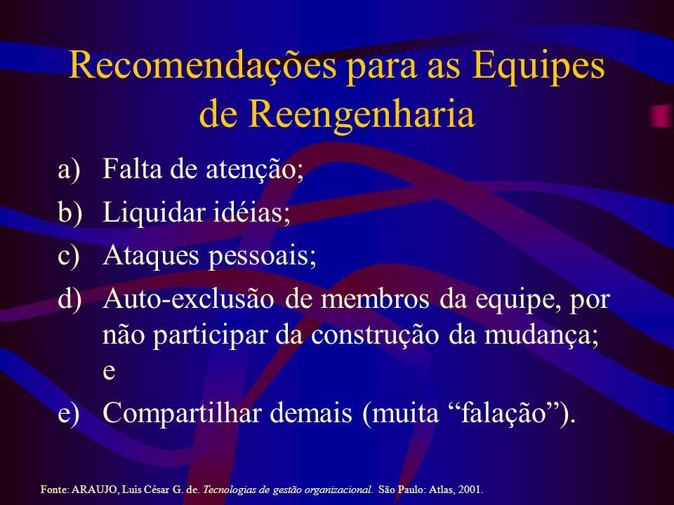 Recomendações para as Equipes de Reengenharia