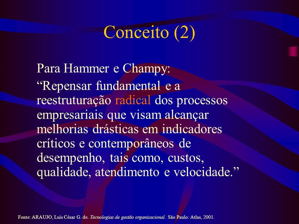 Conceito (2) Para Hammer e Champy: