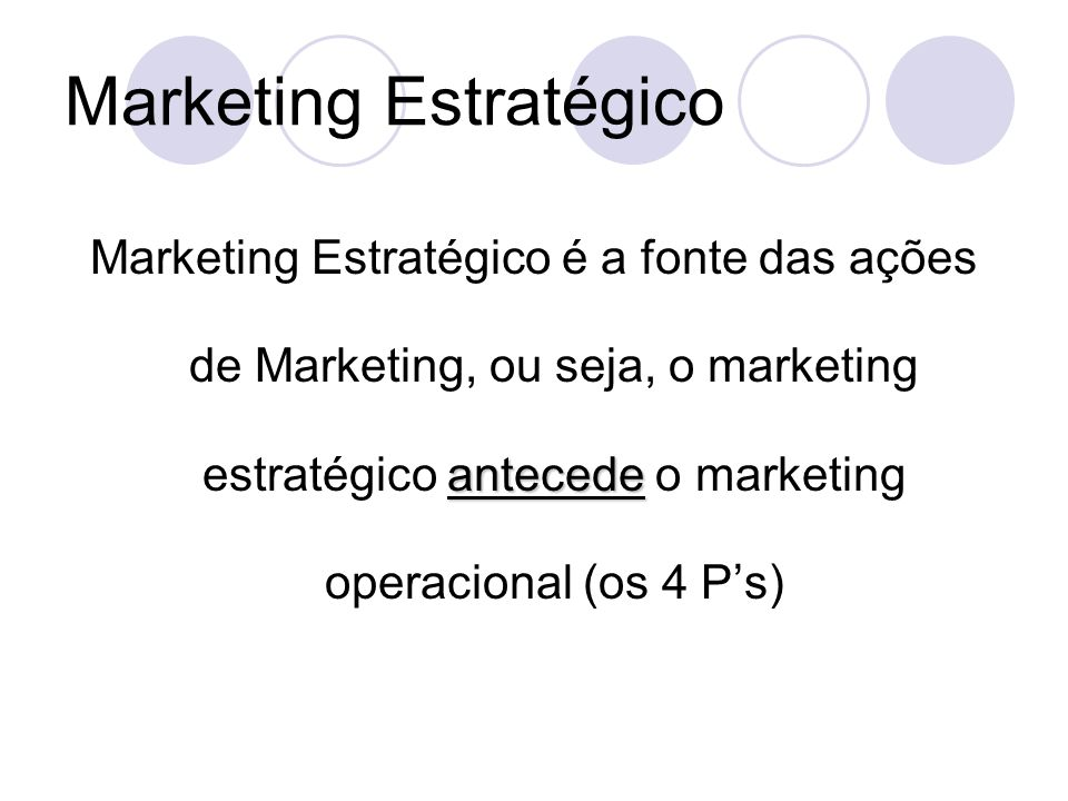 Marketing Estratégico