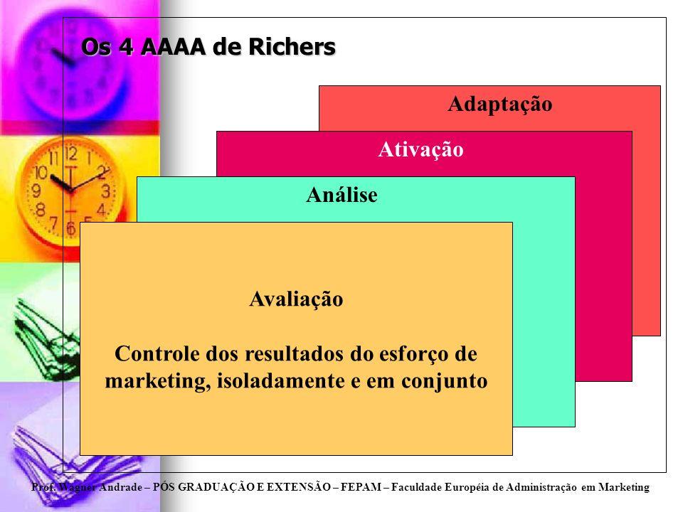Os 4 AAAA de Richers Adaptação Ativação Análise Avaliação