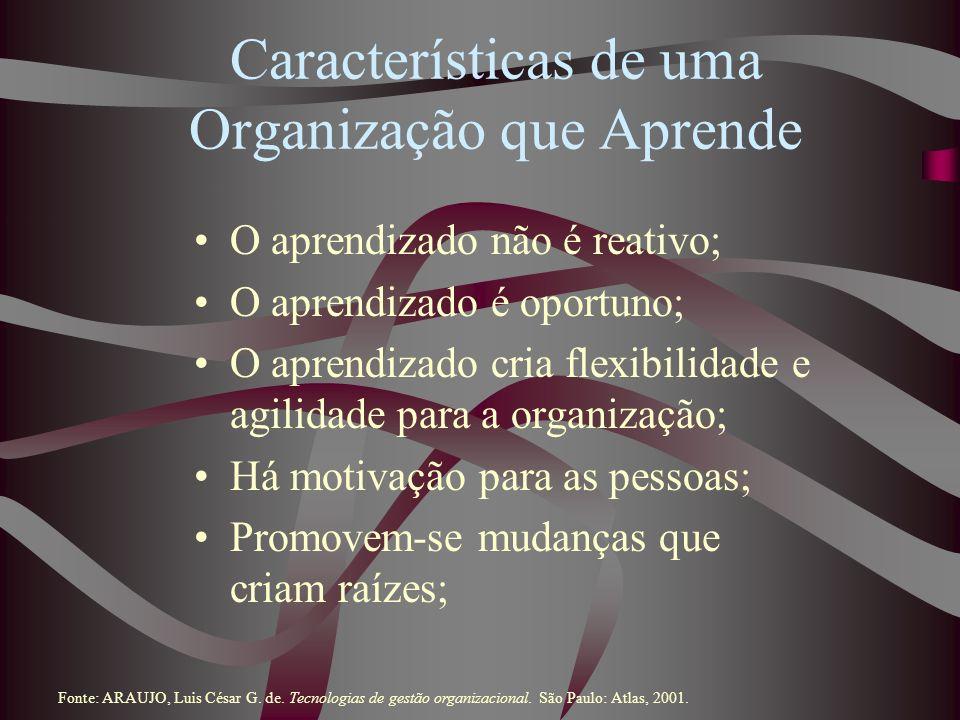 Características de uma Organização que Aprende