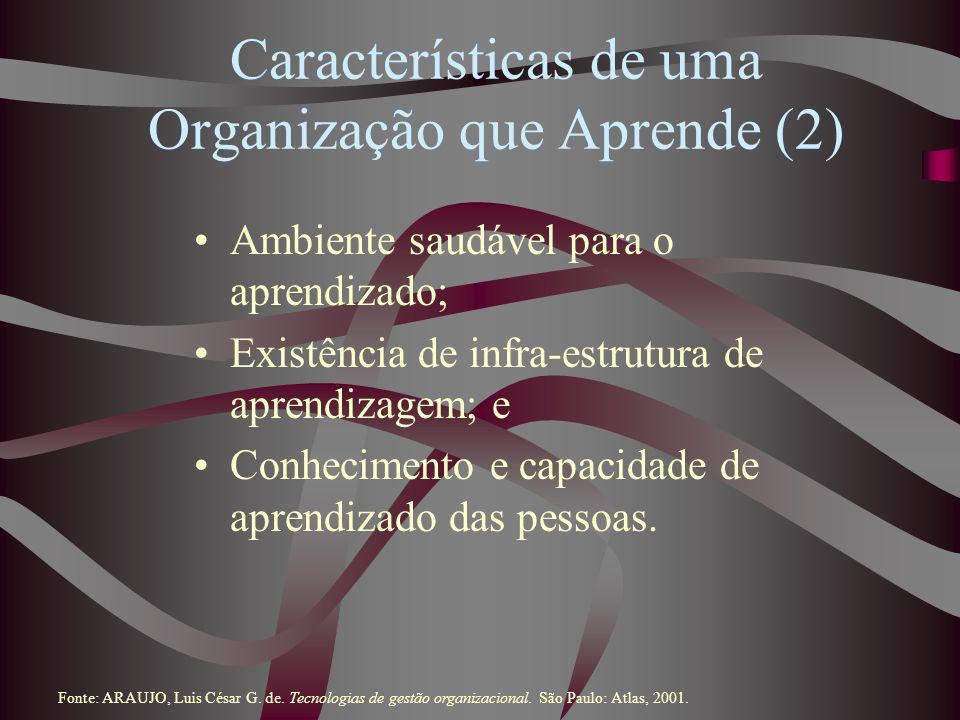 Características de uma Organização que Aprende (2)