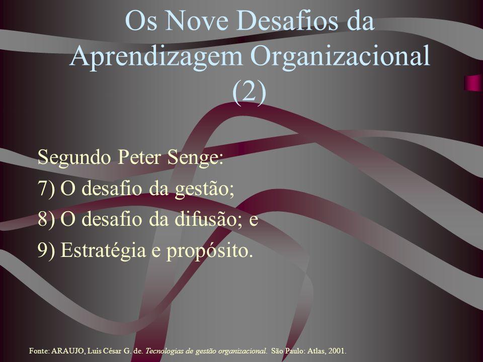 Os Nove Desafios da Aprendizagem Organizacional (2)