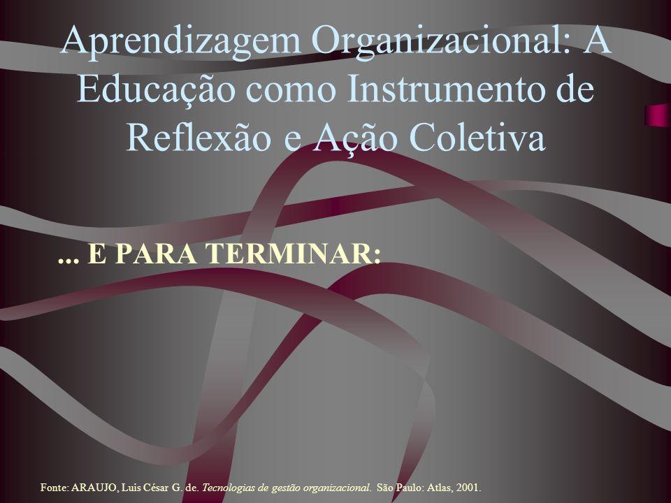 Aprendizagem Organizacional: A Educação como Instrumento de Reflexão e Ação Coletiva