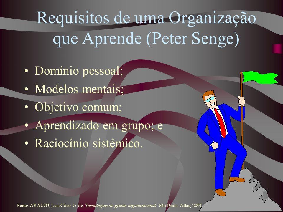 Requisitos de uma Organização que Aprende (Peter Senge)