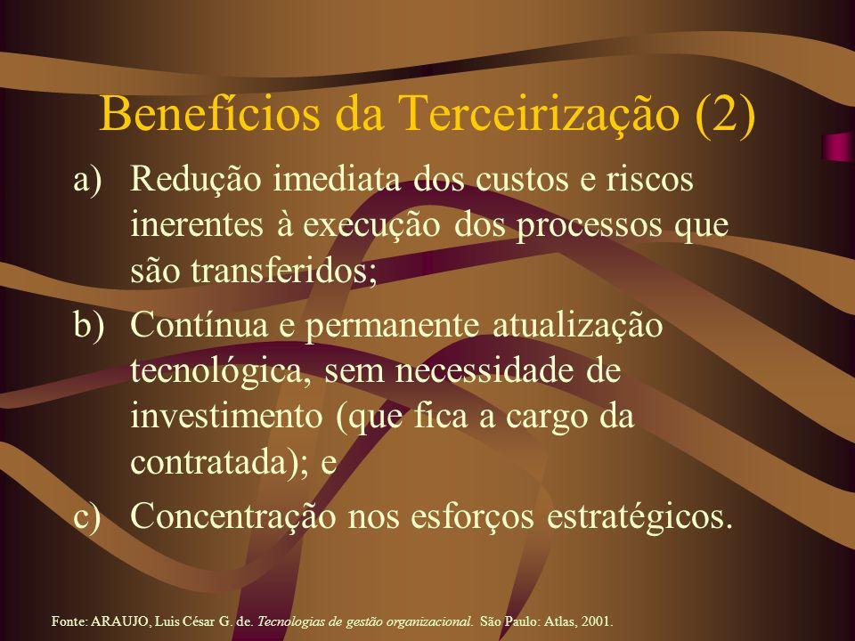 Benefícios da Terceirização (2)