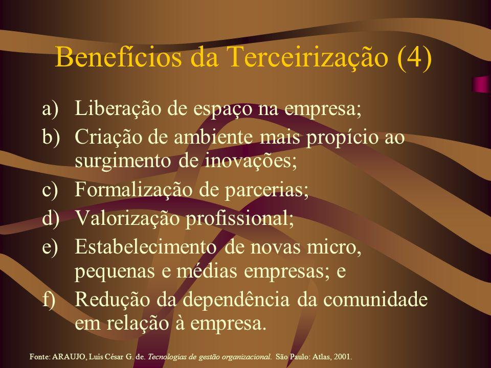 Benefícios da Terceirização (4)