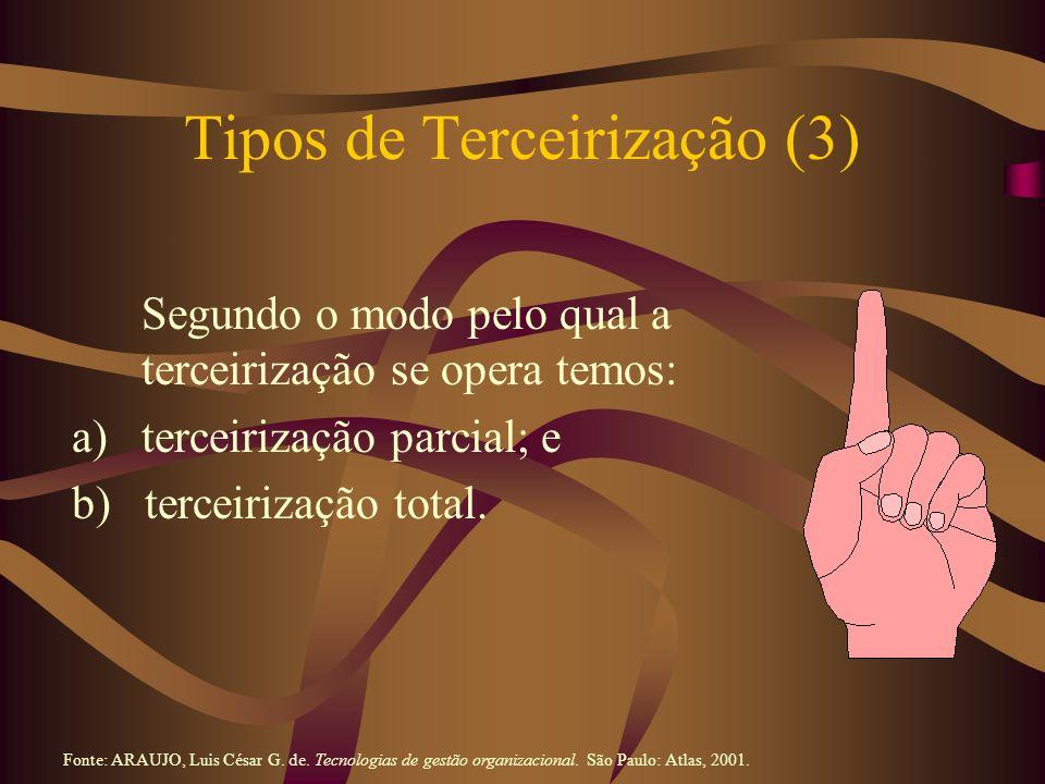 Tipos de Terceirização (3)