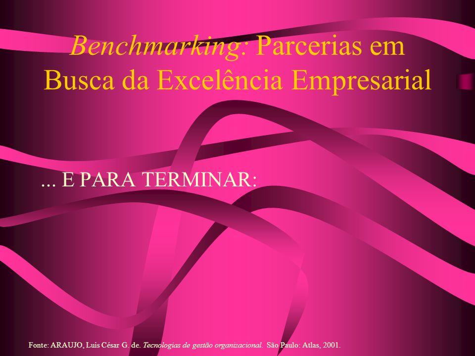 Benchmarking: Parcerias em Busca da Excelência Empresarial