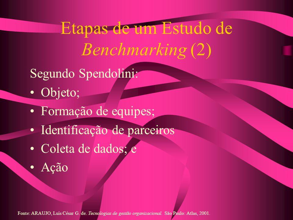 Etapas de um Estudo de Benchmarking (2)