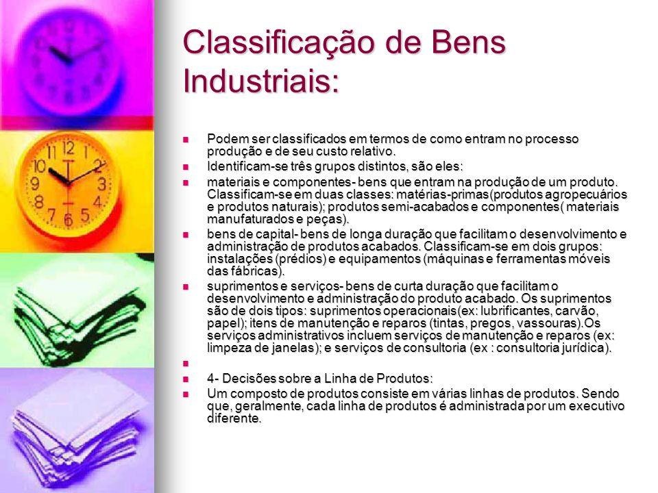 Classificação de Bens Industriais: