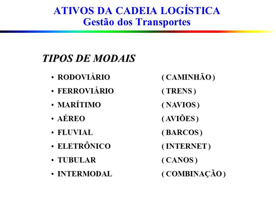ATIVOS DA CADEIA LOGÍSTICA Gestão dos Transportes
