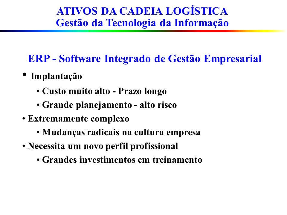 ATIVOS DA CADEIA LOGÍSTICA Gestão da Tecnologia da Informação