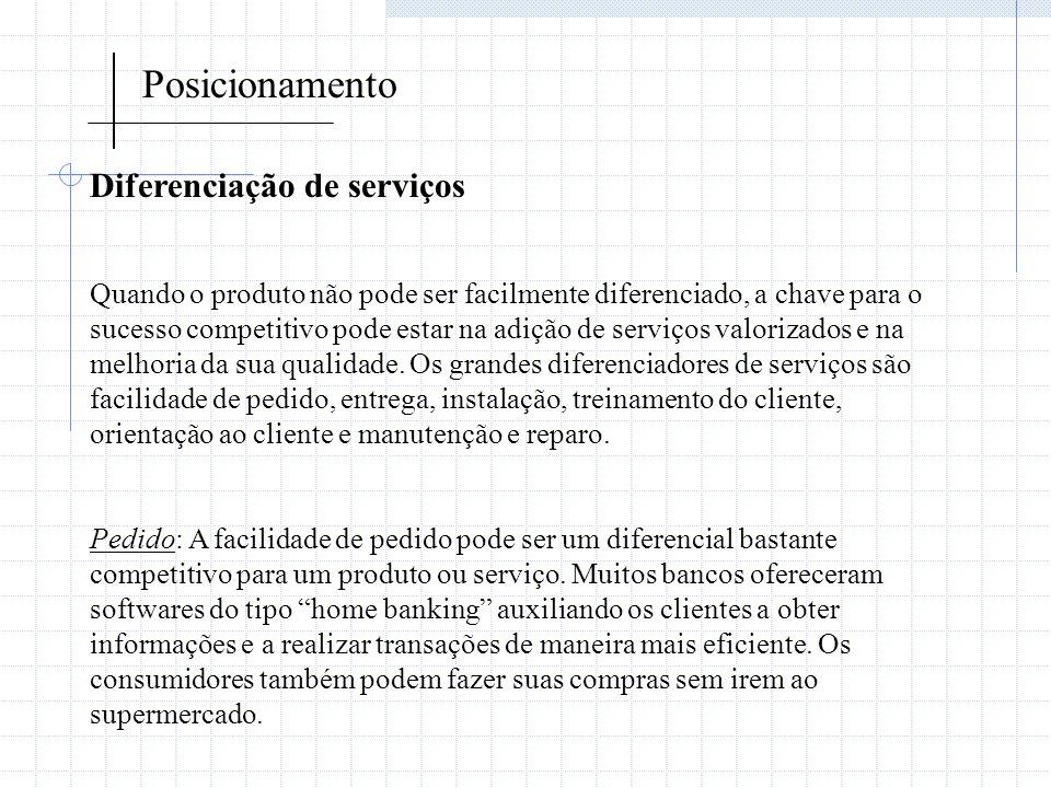 Posicionamento Diferenciação de serviços