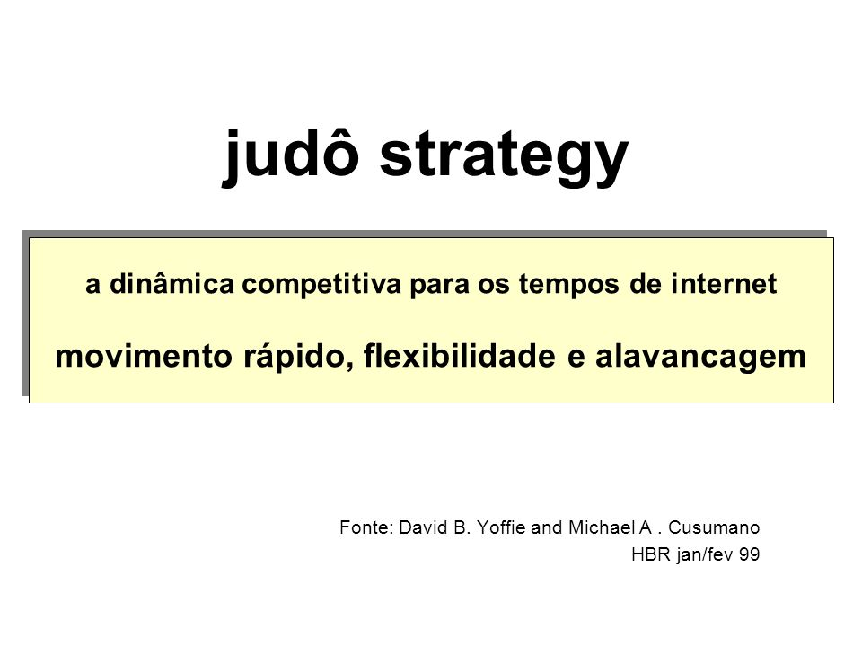 Fonte: David B. Yoffie and Michael A . Cusumano HBR jan/fev 99
