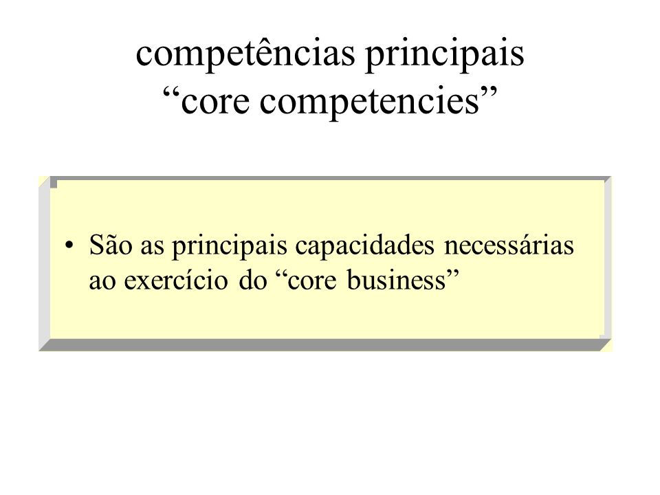 competências principais core competencies