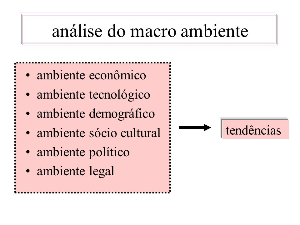 análise do macro ambiente