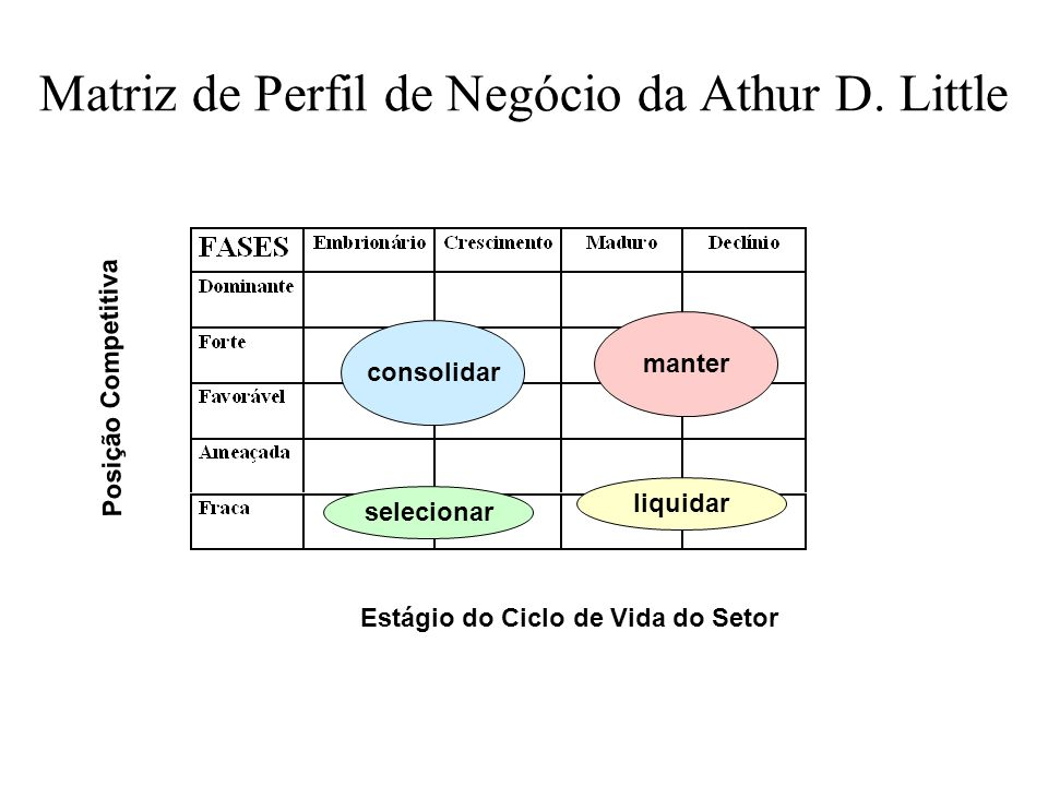 Matriz de Perfil de Negócio da Athur D. Little