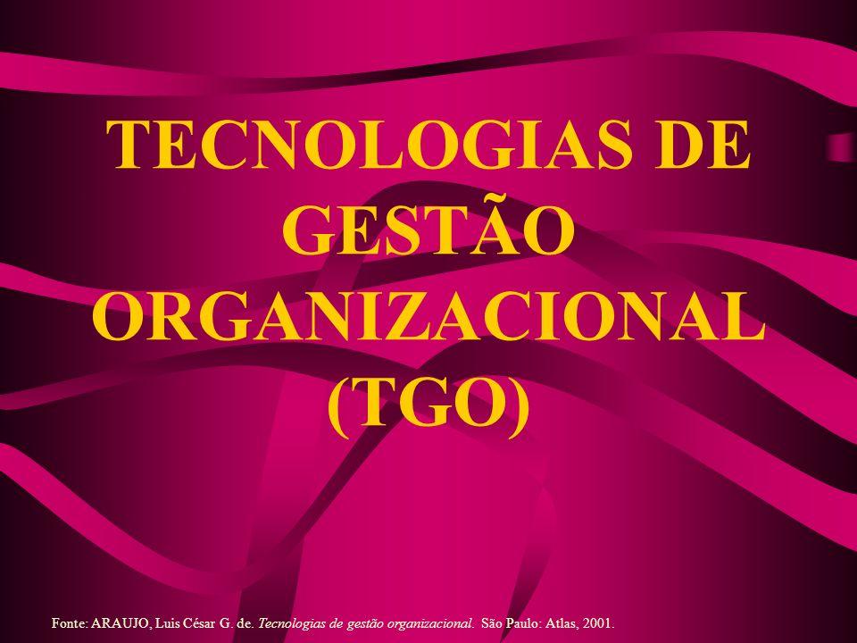 TECNOLOGIAS DE GESTÃO ORGANIZACIONAL (TGO)