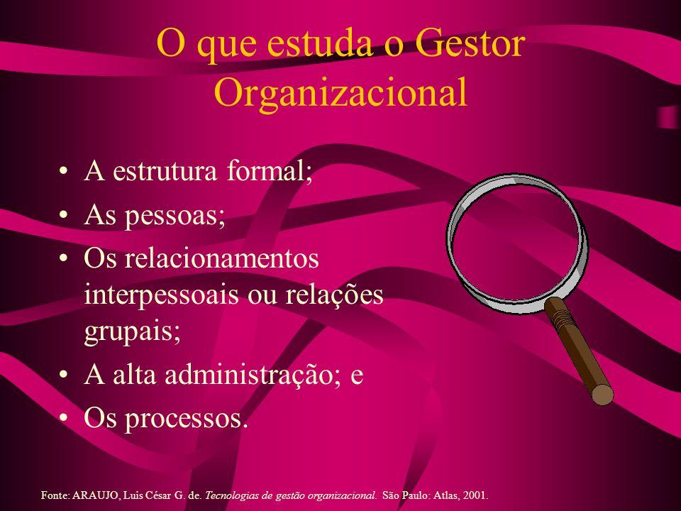 O que estuda o Gestor Organizacional