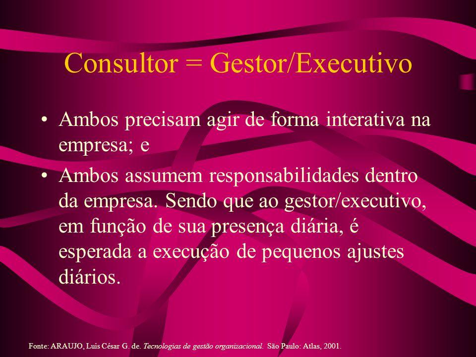 Consultor = Gestor/Executivo