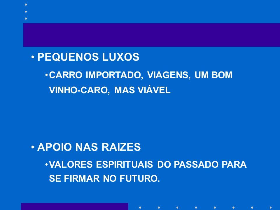 PEQUENOS LUXOS APOIO NAS RAIZES