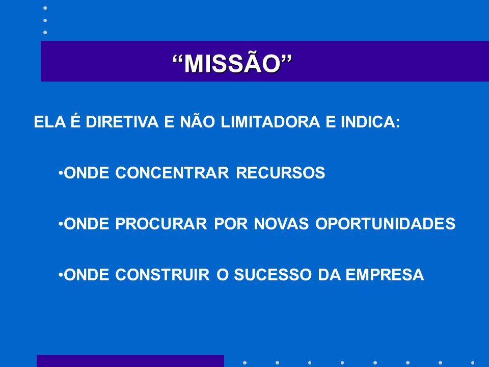 MISSÃO ELA É DIRETIVA E NÃO LIMITADORA E INDICA: