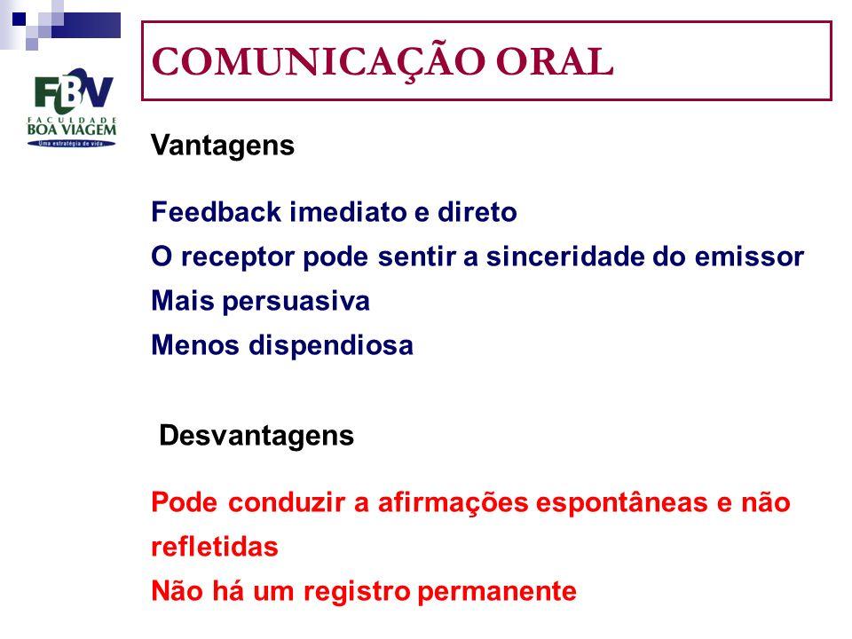 COMUNICAÇÃO ORAL