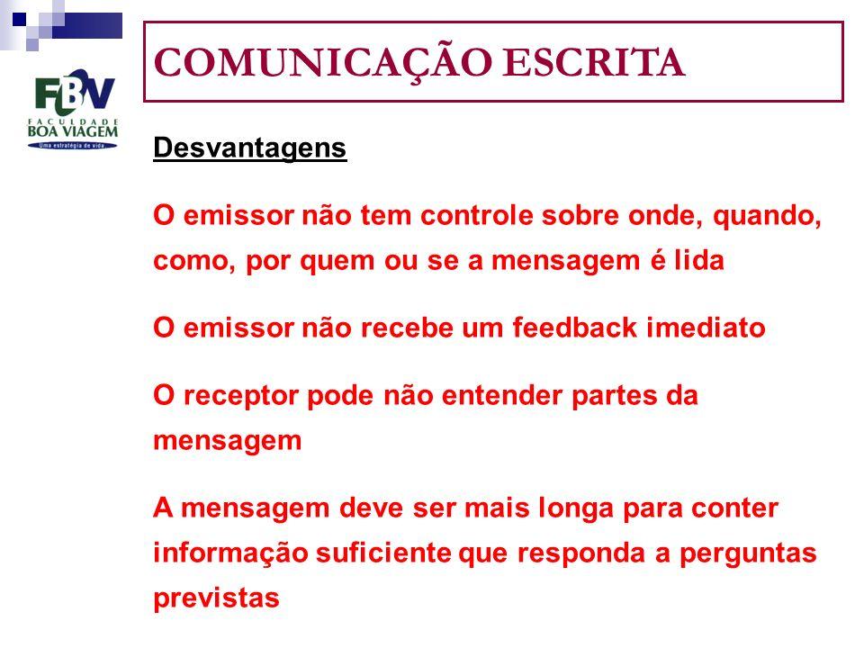 COMUNICAÇÃO ESCRITA