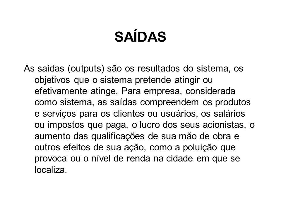 SAÍDAS